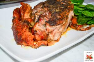 Pork cooked in rum