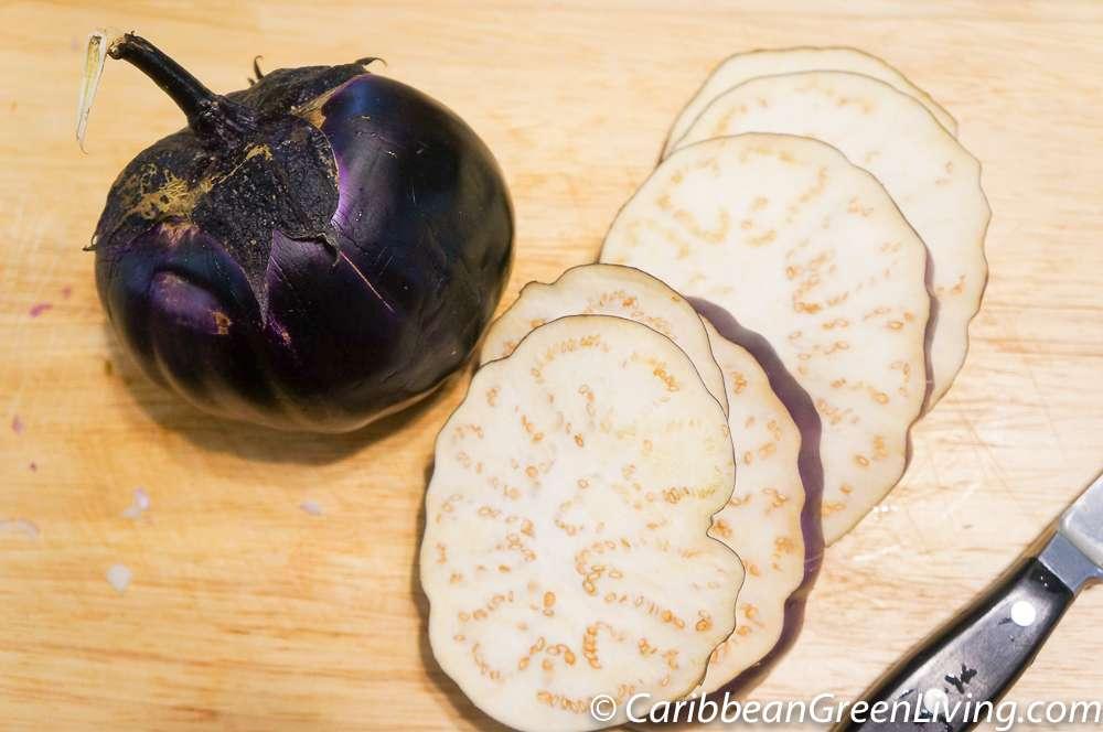 Slices of Barbarella Eggplant