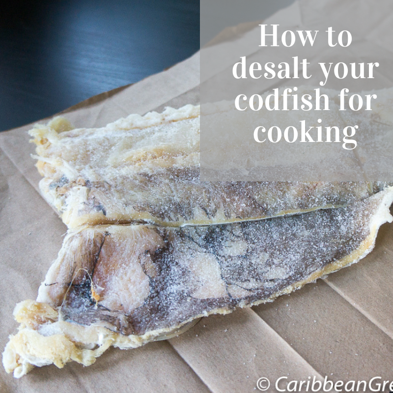 How to desalt your codfish for cooking