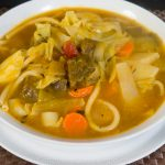 Calabaza Squash Soup with Beef and Veggies