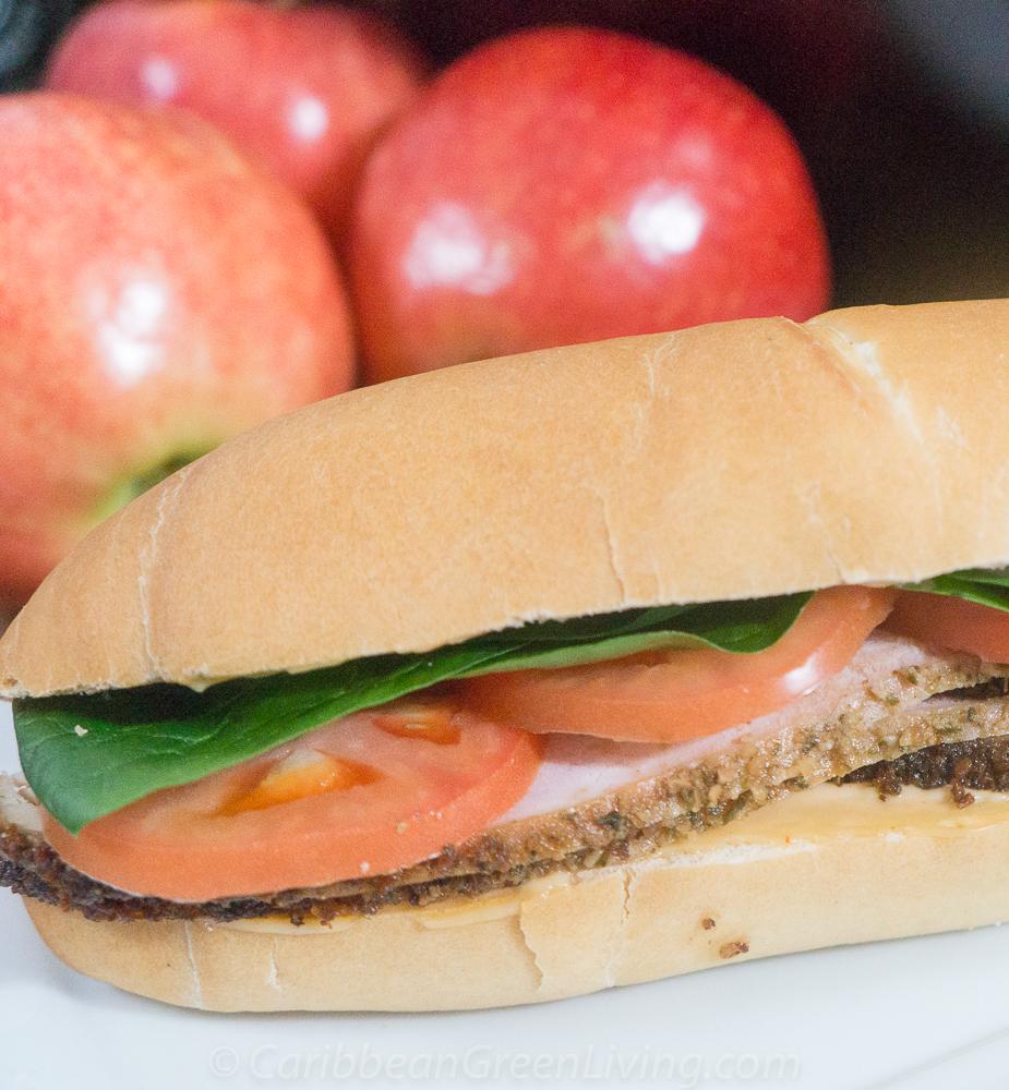 Homemade Turkey Sandwich made with Haitian Bread
