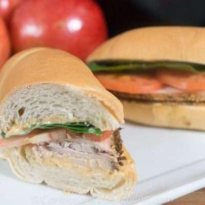 Turkey Sandwich made with Haitian Bread