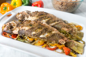 Roasted Red Snapper with Bell Peppers Recipe