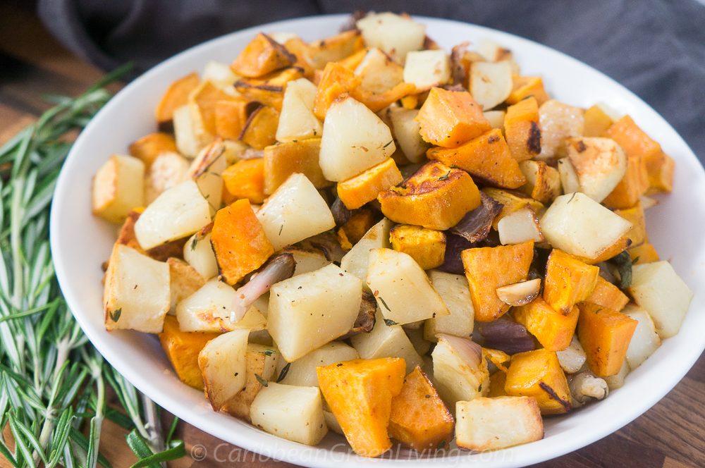 Roasted Sweet and White Potatoes 8 1
