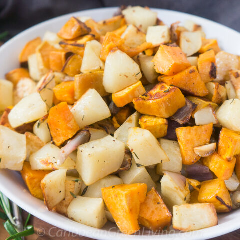 Roasted Sweet and White Potatoes
