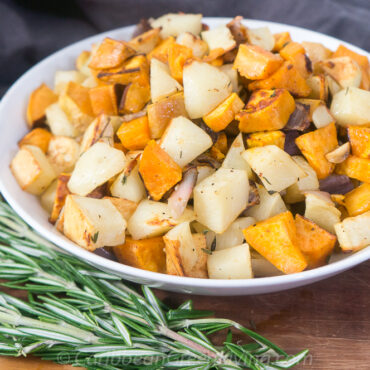 Easy Roasted Sweet and White Potatoes