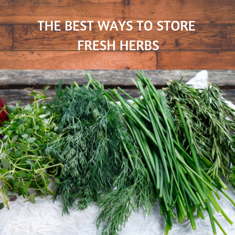 THE BEST WAYS TO STORE FRESH HERBS