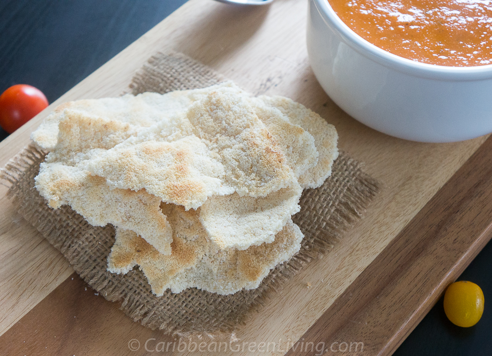 Tomato soup with cassava