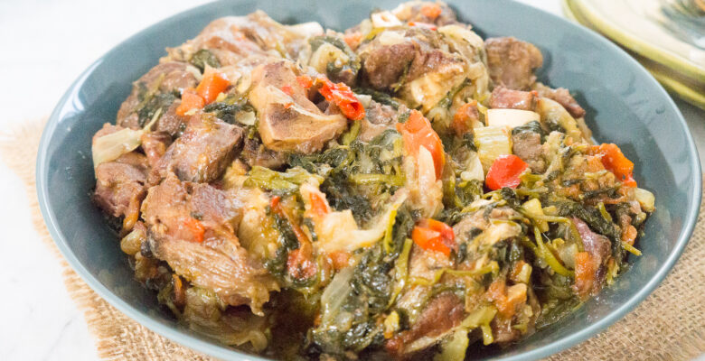 Lamb Shanks Stew with Watercress