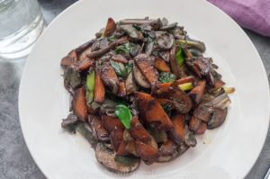 Sauteed Mushrooms and Carrots
