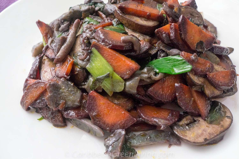 Sauteed Mushrooms and Carrots