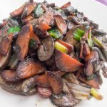 Sauteed Mushrooms, Carrots, and Scallions