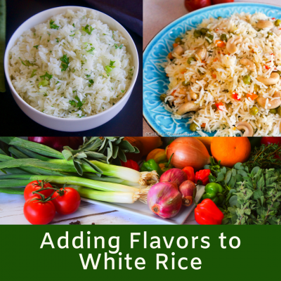 Adding Flavors to White Rice
