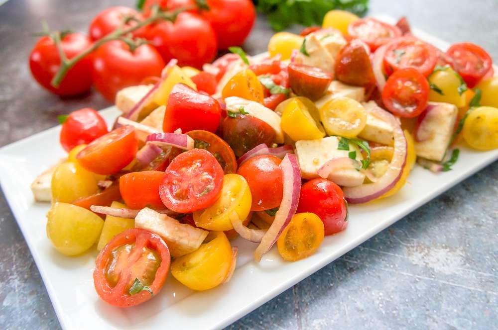 Cherry Tomato and Mozzarella Salad