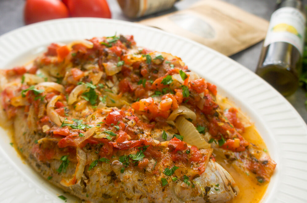 Red Snapper in Fresh tomato Sauce