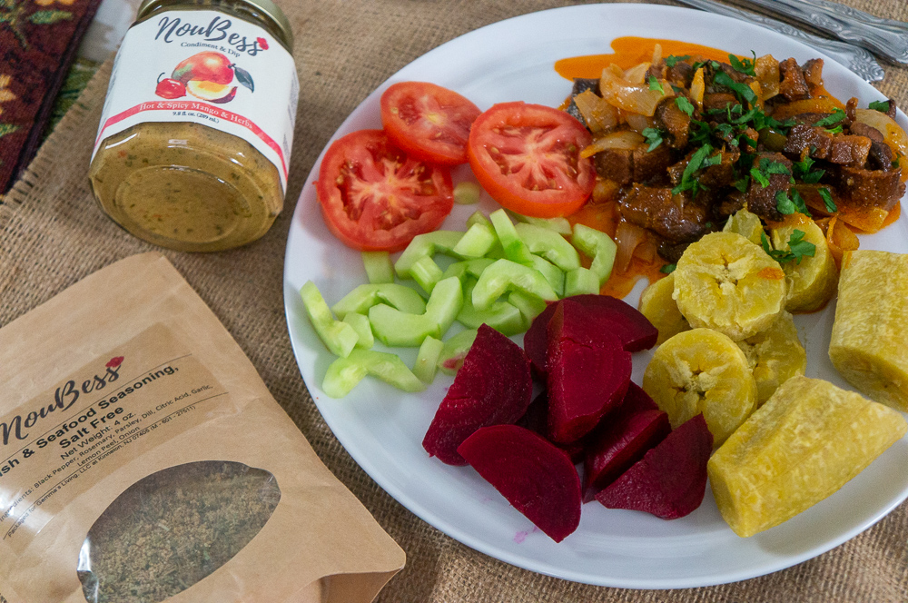 Smoked Herrings with Noubess Products