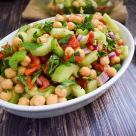 Chickpea Salad upclose