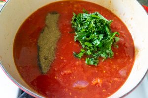 Marinara sauce - herbs and spices