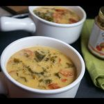 Creamy Chickpeas, Kale and Andouille Sausage Soup