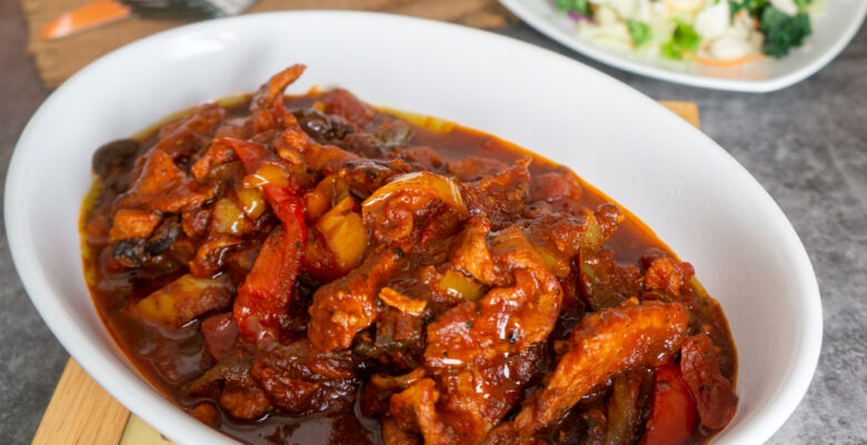 Veal with Peppers and Mushrooms