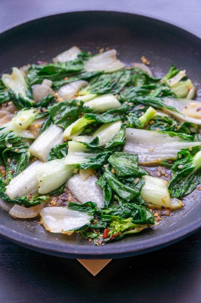 Bok Choy with Steak Seasoning