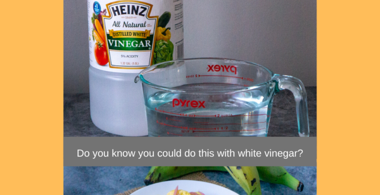 Do you know you could do this with white vinegar
