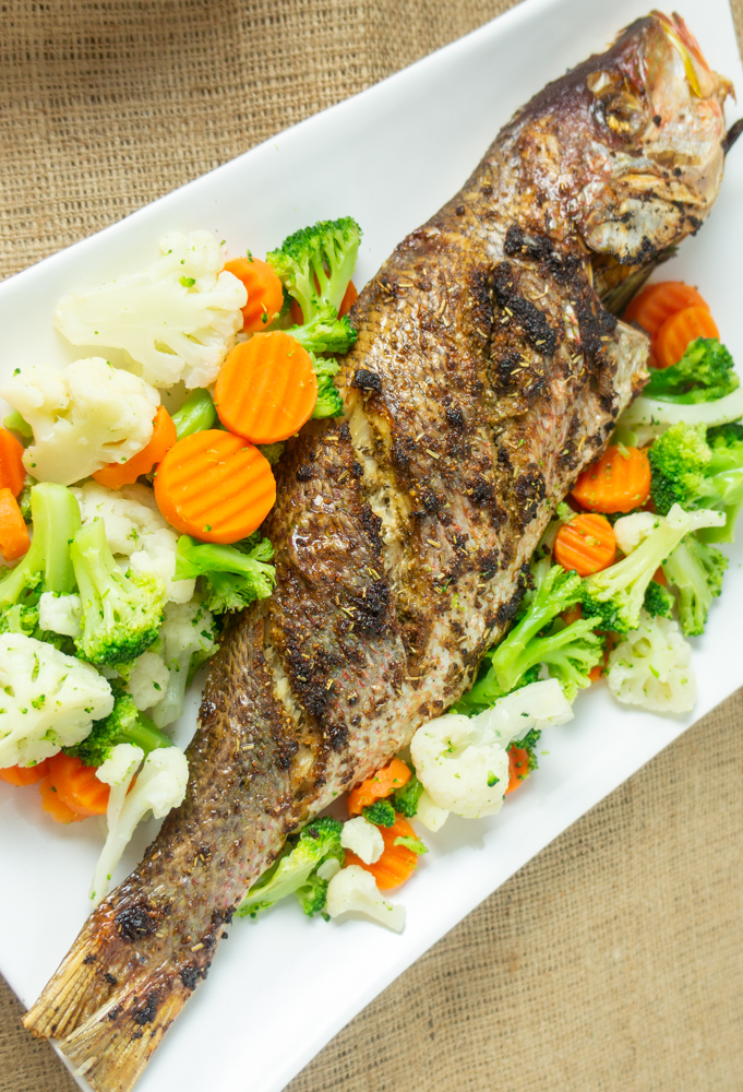 Roasted Whole Snapper