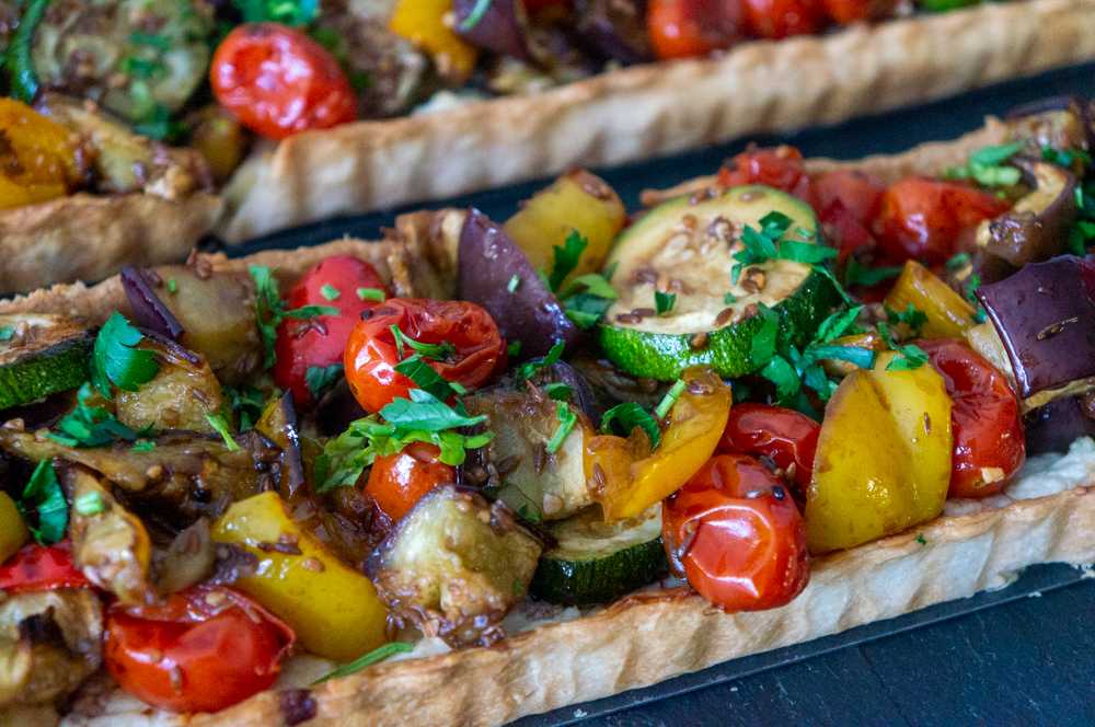 Vegetables Tart with Feta Cheese