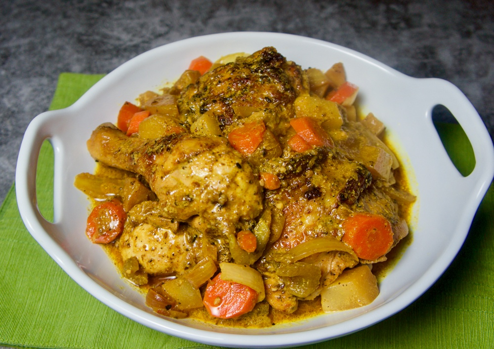 Crispy Chicken with Chayote and Carrot Stew3