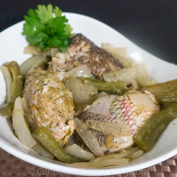 Hot and Spicy Snapper with Pepper and Onion