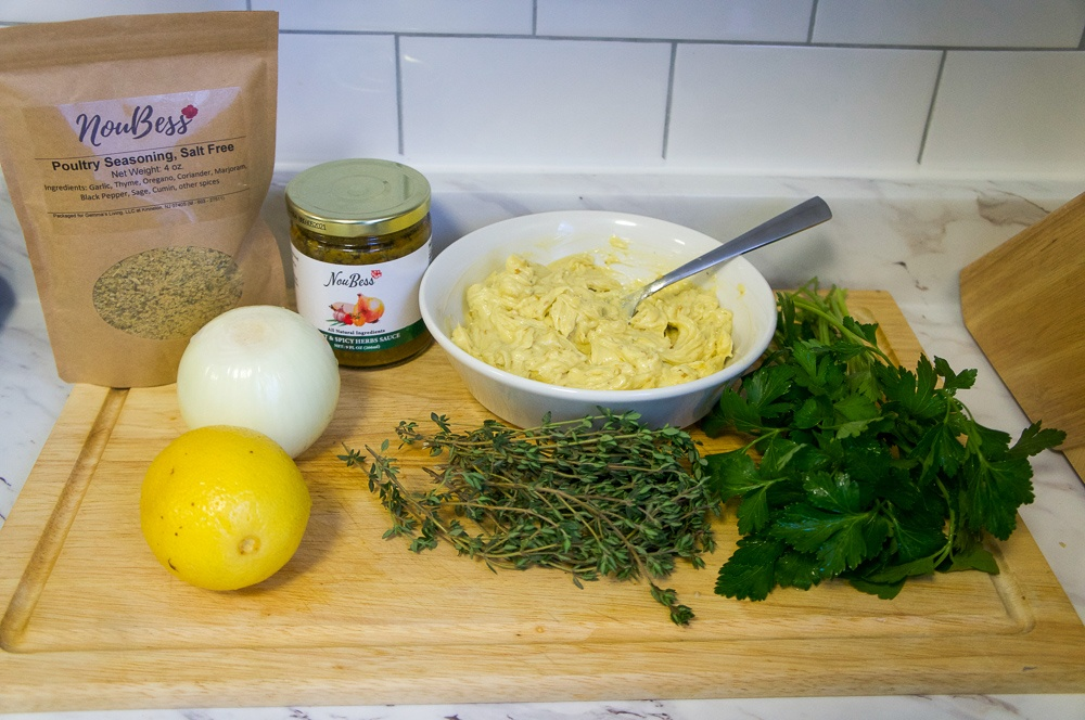Ingredients for Easy Roasted Turkey with Noubess
