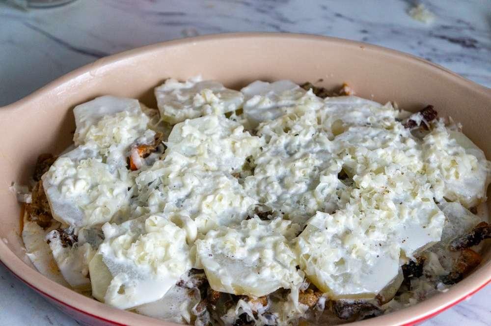Potatoes Au Gratin with Smoked Herrings