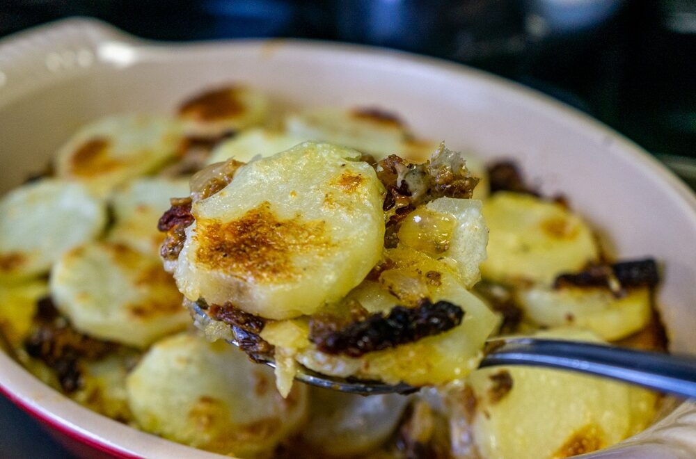 Potatoes Au Gratin with Smoked Herrings