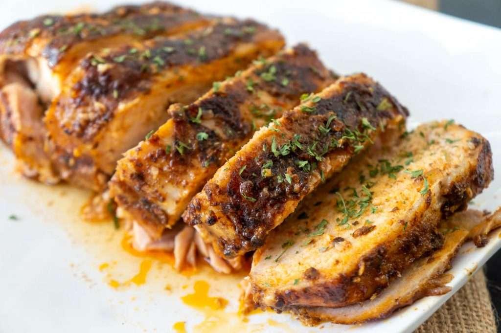 Slow Cooker Garlic Balsamic Pork Loin Roast 10
