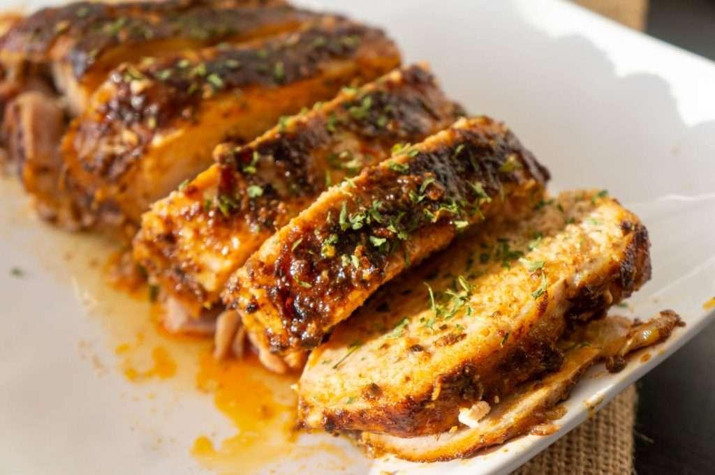 Slow Cooker Garlic Balsamic Pork Loin Roast 8