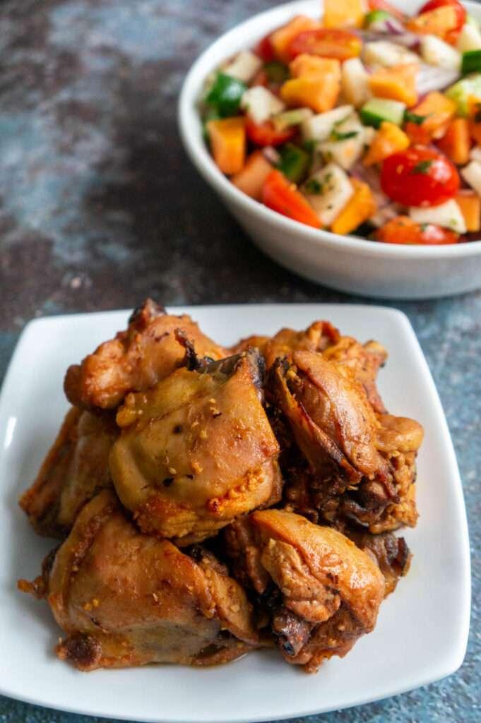 Garlic Chicken with Jicama Salad