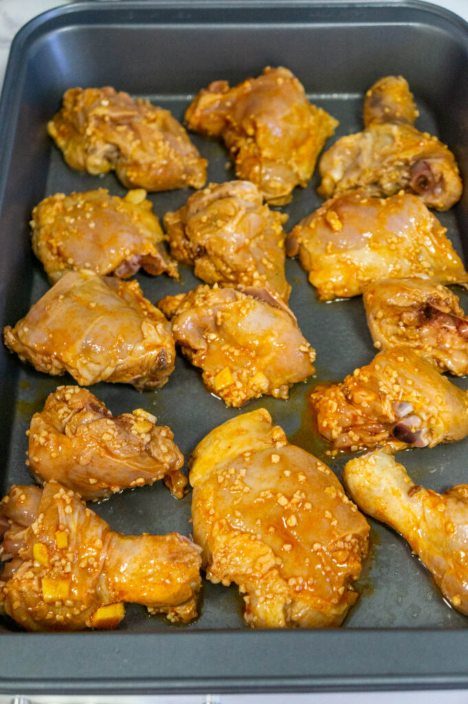 Uncooked Garlic Chicken
