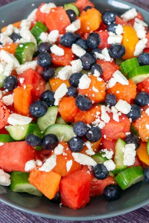 Watermelon and papaya salad