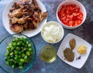Cornish Hen and Okra Stew