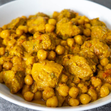 Coconut Pork with Chickpeas Stew