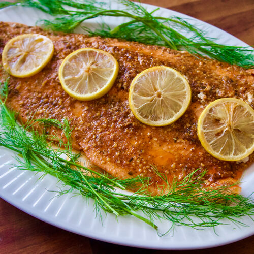 Baked Lemon Garlic Salmon Recipe