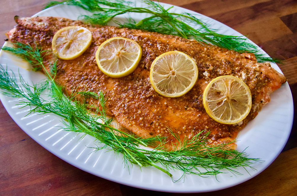 Baked Lemon Garlic Salmon