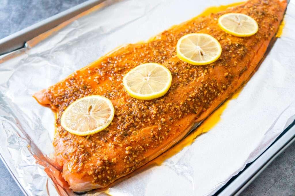 Baked Lemon Garlic Salmon