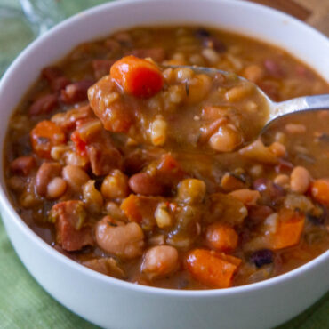 Easy 16 Beans and Ham Soup Recipe