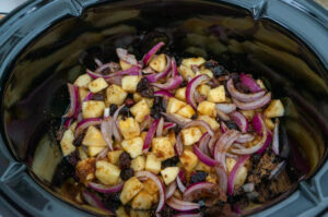 Apple, Red Onion, and Dried Cranberry Chutney