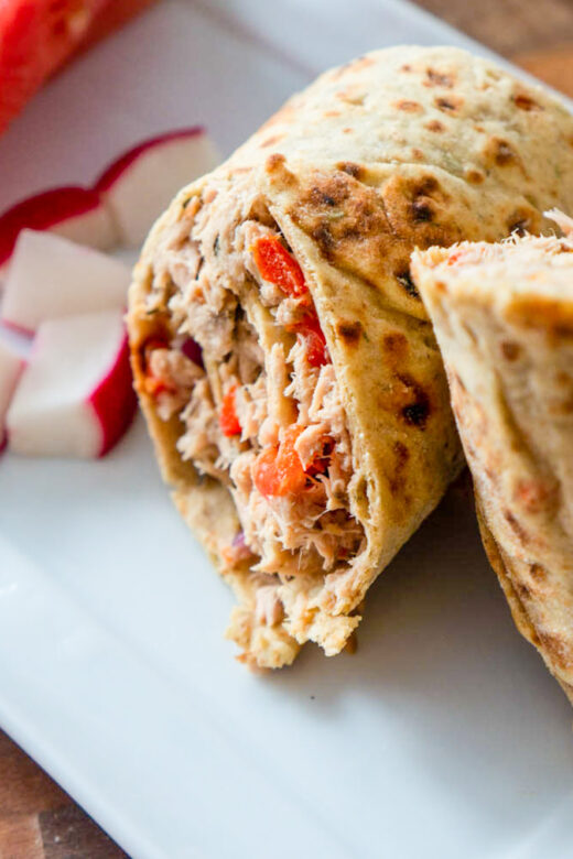 Easy Tuna Salad Wrap