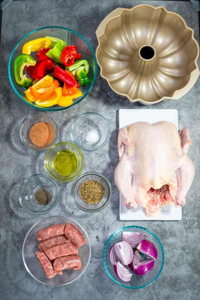 Ingredients for Roasted Chicken in Bundt Pan