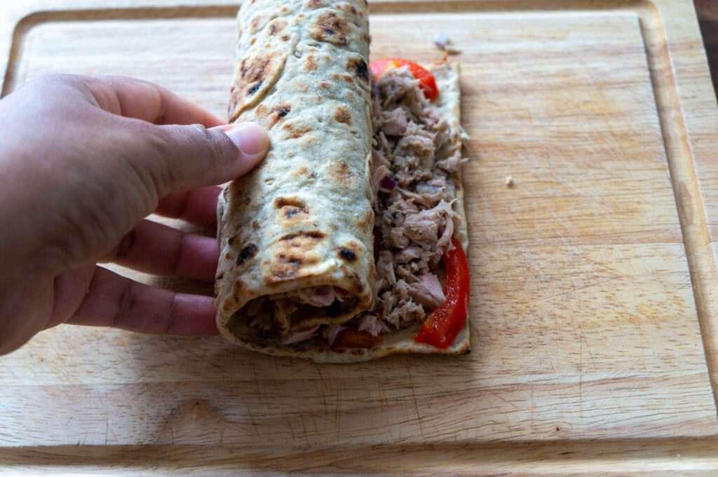 Easy Tuna Salad Wra