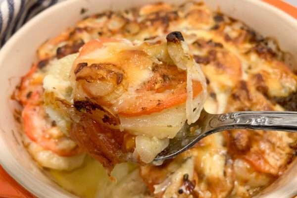 Potato, Onion, and Tomato Bake