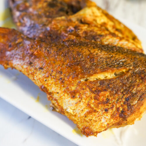 Easy Baked Fish with Turmeric